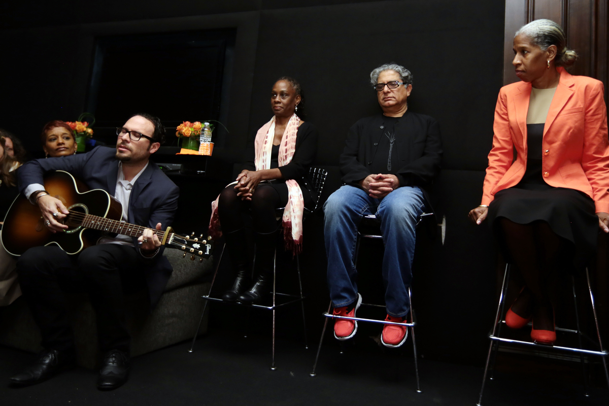 First Lady Chirlane McCray in New York Living Room Conversation with Deepak Chopra